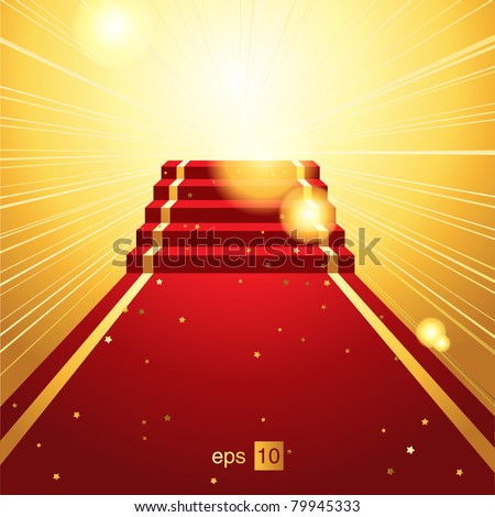 On the red carpet vector background eps 10.0