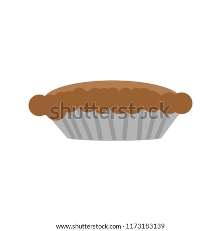 one brown pie