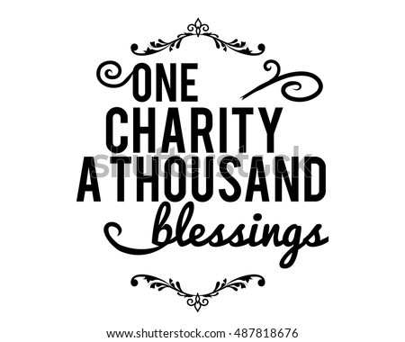 one charity a thoudans blessings