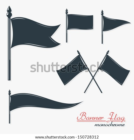 one color quality banners flags