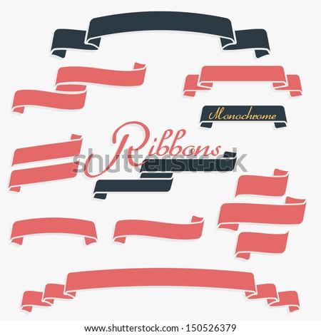 One color quality banners ribbons