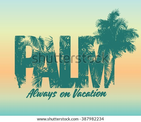 one color summer palm print