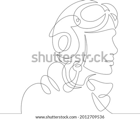 one continuous line female