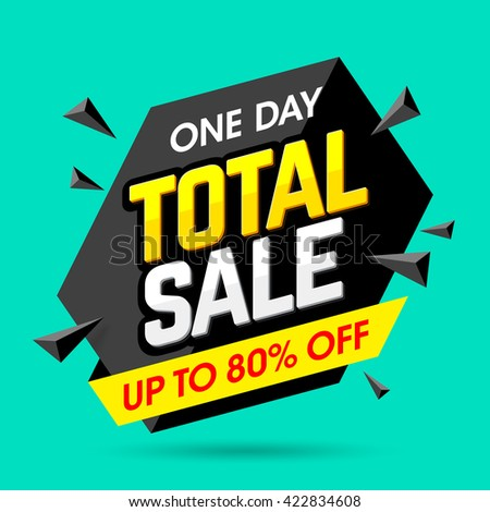one day total sale banner