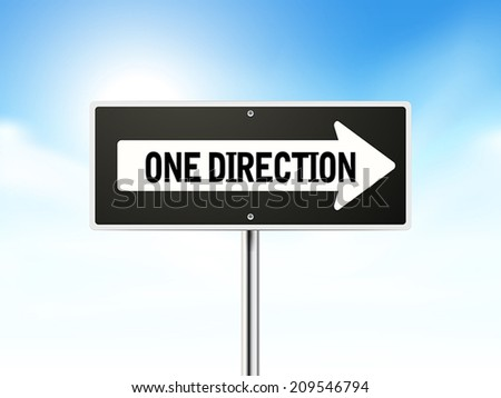 one direction on black road