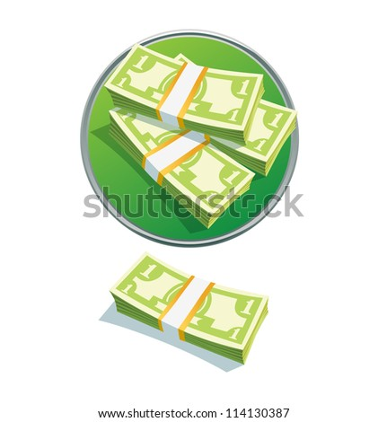 one dollar stack. Vector illustration. vector  money stack dollar
