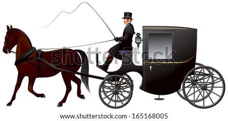 Horse Drawn Carriage Clipart Horse-drawn Carriage