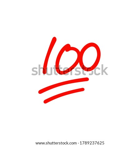 One hundred logo icon design, 100 points illustration, perfect exam score - Vector Foto stock ©