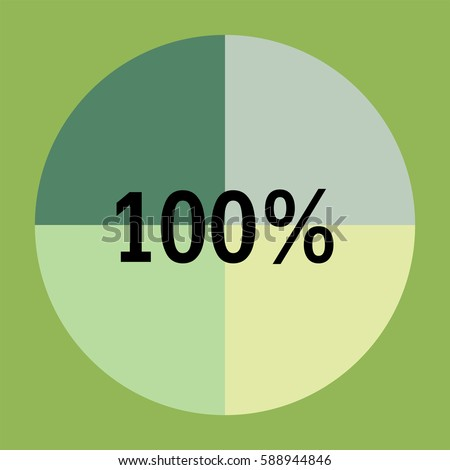 stock-vector-one-hundred-percentage-green-pie-chart-circle-chart-quarter-pie-chart