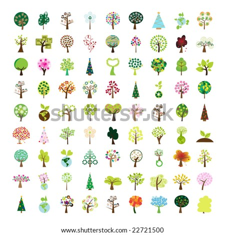 one hundred tree icon   part 1