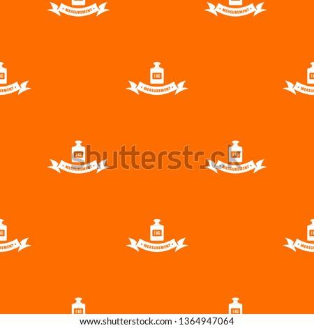 One kg pattern vector orange for any web design best