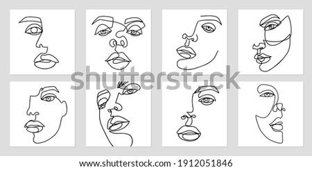 one line art portraits