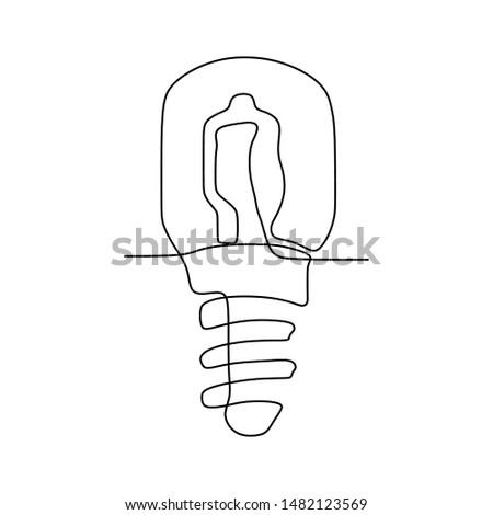 one line drawing light bulb