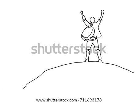 one line drawing of man on the