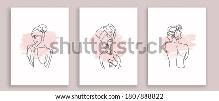 One Line Drawing Woman Body. Continuous Line Drawing Woman Sketch Isolated on White Background. Perfect for Home Decor, Wall Art, T-shirt Print. Vector EPS 10.