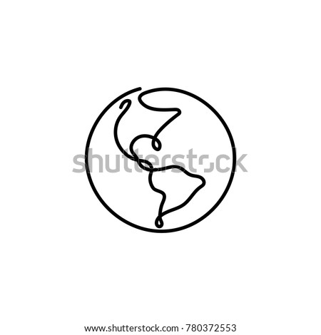 one line earth design hand