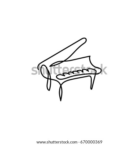 one line piano instrument