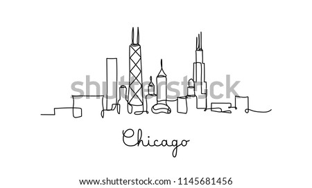 one line style chicago city