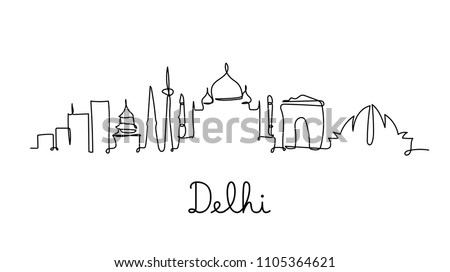 one line style delhi city