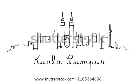 one line style kuala lumpur