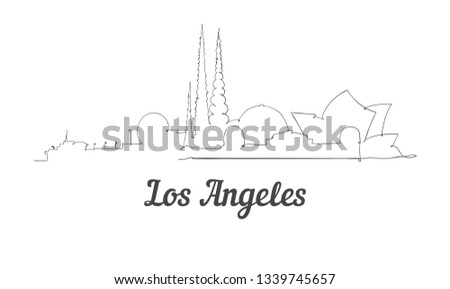 one line style los angeles