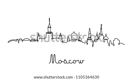 one line style moscow city