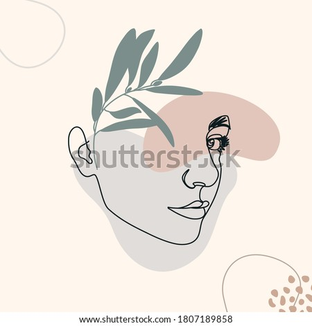 one line woman's face