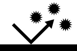 One monochrome icon about antivirus. Vector illustration. Protect yourself from disease-causing germs. Or protect your computer from computer viruses.