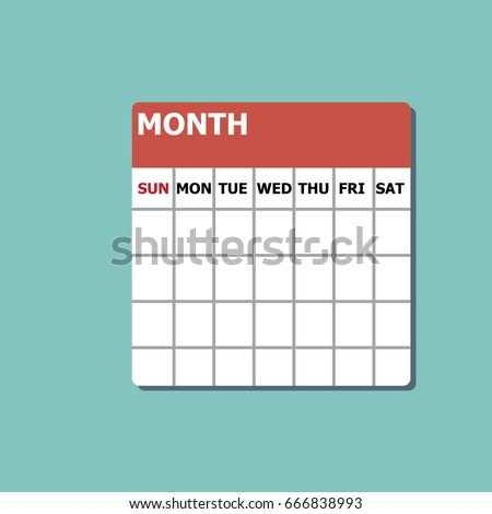 one month calendar-vector