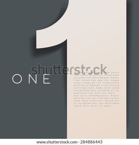 one   numeral graphic in