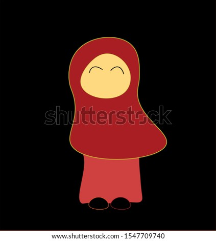 one of the caricatures of Muslim women in Indonesia