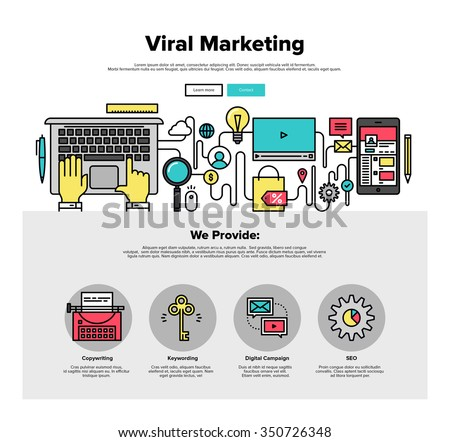 thin line icons of viral media production, digital marketing service ...: http://www.shutterstock.com/pic-350726348/stock-vector-one-page-web-design-template-with-thin-line-icons-of-viral-media-production-digital-marketing.html