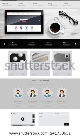 one page website template and
