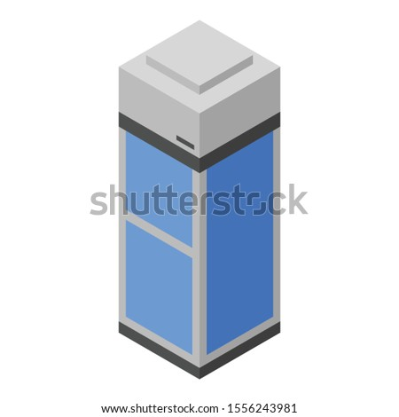 One person elevator icon. Isometric of one person elevator vector icon for web design isolated on white background