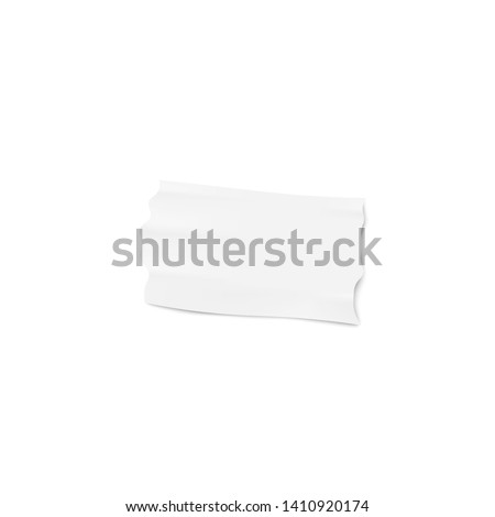 one piece of white adhesive or
