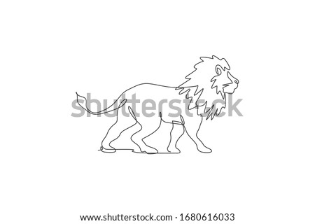 one single line drawing of wild