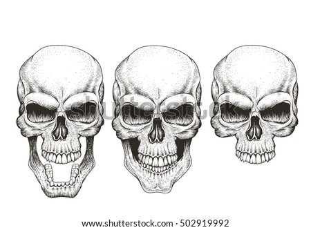 one skull in different guises