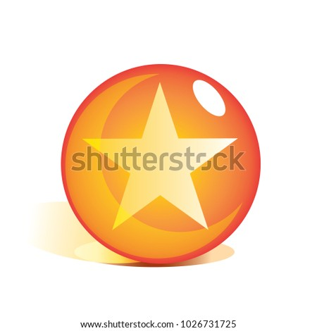 Stock Photo one star crystal ball. ball star. crystal ball special effects. dragon ball z