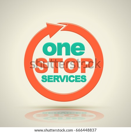 one stop services icon with