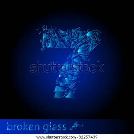 one symbol of broken glass