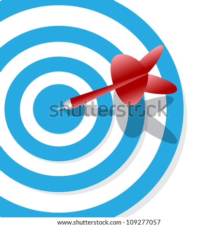 one target and a dart on center
