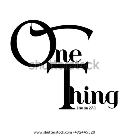 one thing word in christianity