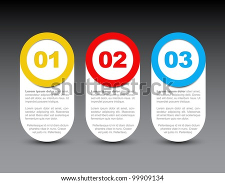One two three - vector progress icons for four steps