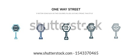 one way street icon in