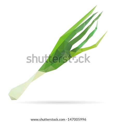 Onion abstract isolated on a white backgrounds