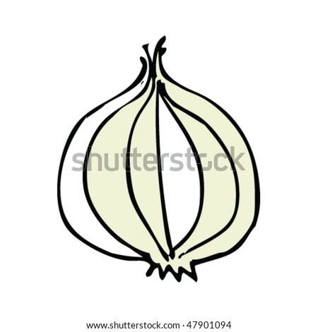Onion Line Drawing