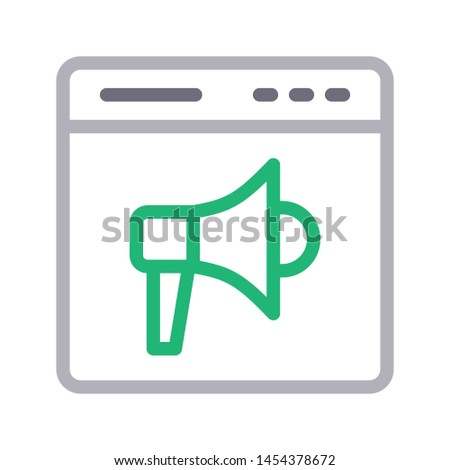 online ad colour line vector icon