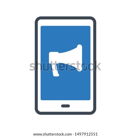 online ads glyph colour vector icon