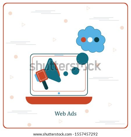 Online Ads, Online Ad Vector Icon