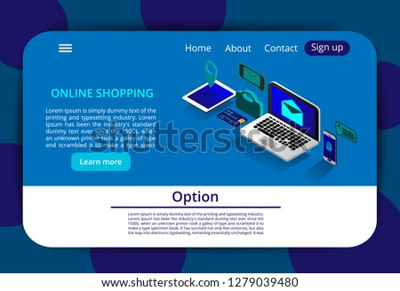 online banking and shoping